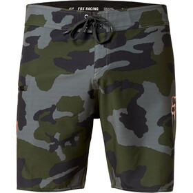 "Fox Overhead Camo 18"" Stretch Boardshorts FHE Heren, green camo"